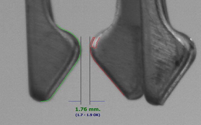 Soketlerin pin mesafelerinin görüntü işleme yöntemleri ile hassas olarak ölçülmesi