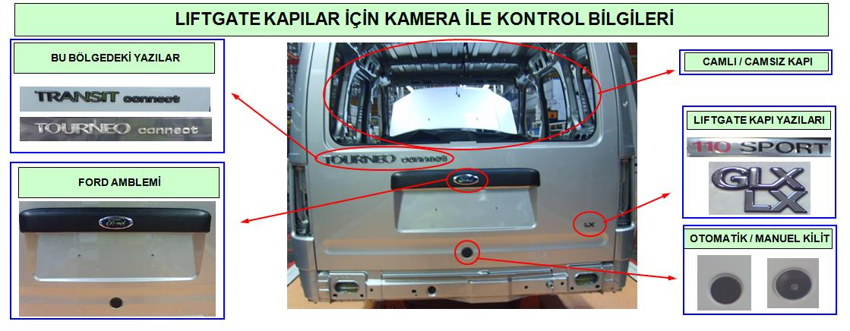 Ford Connect Liftgate Kameralı Kontrol Noktaları